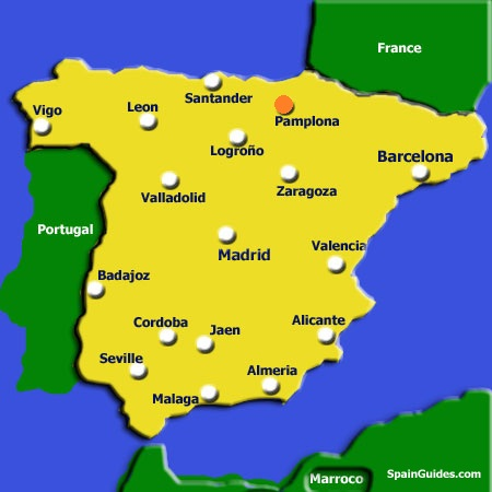 Map Of Spain Navarra.Spea Pamplona Spea Overseas Study Pamplona Spain